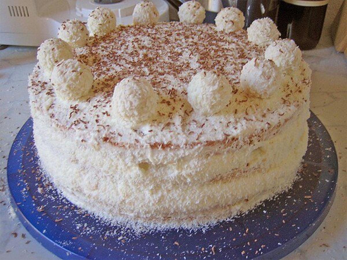 Raffaello torte recepte
