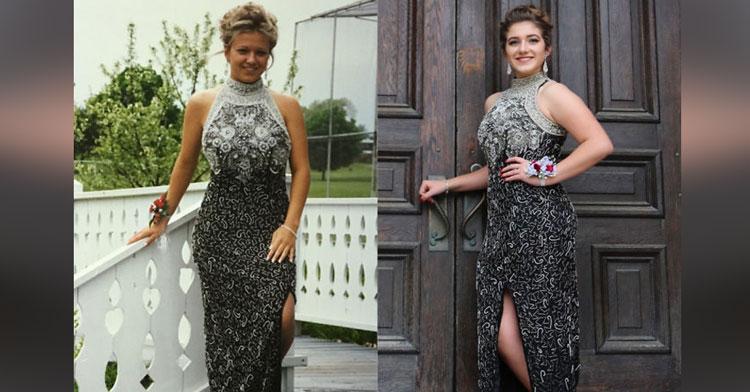 31836f86a147 Tínedžerky nosia na svoju stužkovú slávnosť mamine šaty a je to naozaj  rozkošné! - chillin.sk